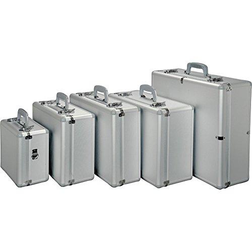Alumaxx Multifunktionskoffer Stratos I, Piloten Koffer aus Aluminium, Aktenkoffer in Silber, Photokoffer Pilotenkoffer