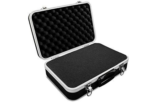 GORANDO® Universal Transport-Koffer mit Schaumstoff Polsterung und Würfelschaum für Kamera, Foto oder Mess-Equipment - Solides Case aus ABS Kunststoff